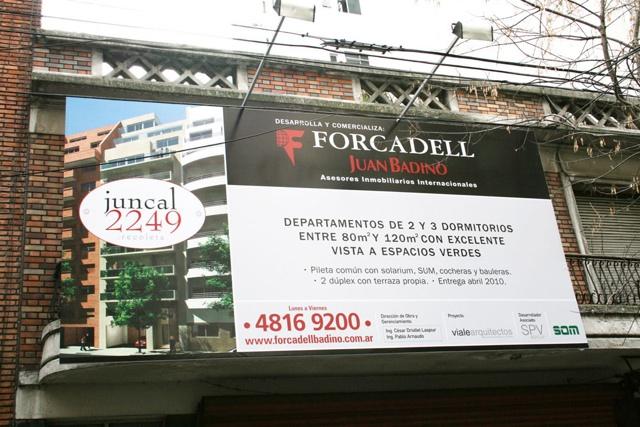 Cartel de obra Juncal 2249