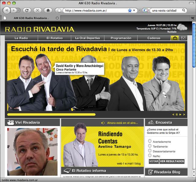 Web Rivadavia renovado
