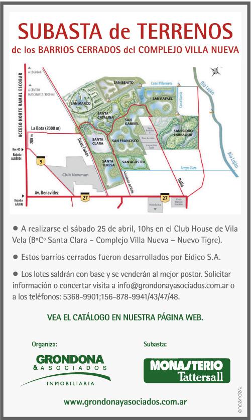 Aviso publicitario en diario Clarín.