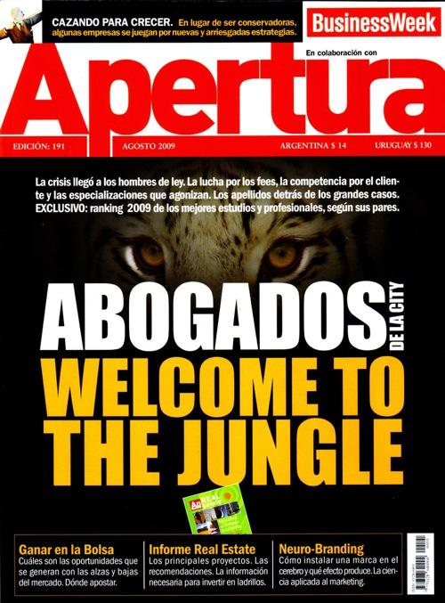 Tapa de la revista Apertura donde se publicó la pieza.