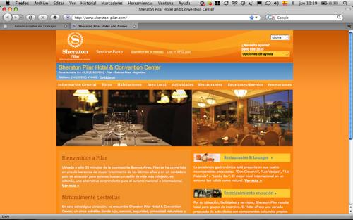 Nueva página de Internet Sheraton Pilar