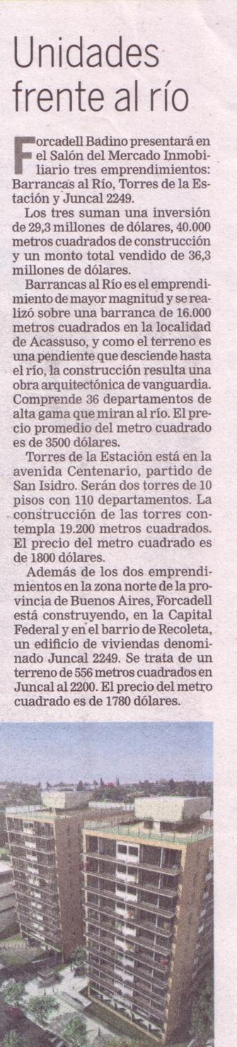 Aparición en el diario La Nación.