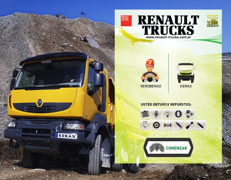Elección de camión y repuestos.