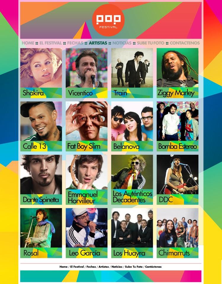 Artistas del Festival