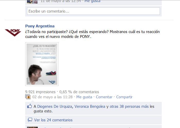 Tratamiento en Facebook