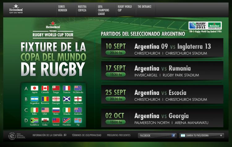 Fixture de la Argentina.