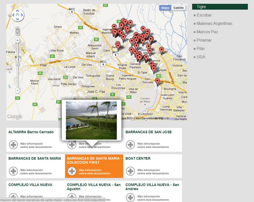 Integración de Google Maps en su mapa de ubicación.