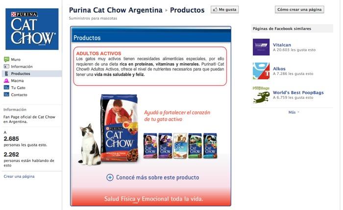 Detalle de todos los productos de CatChow.