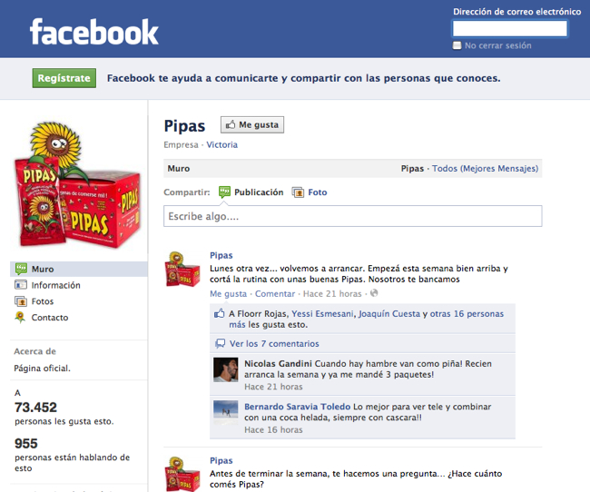 Fanpage de Pipas