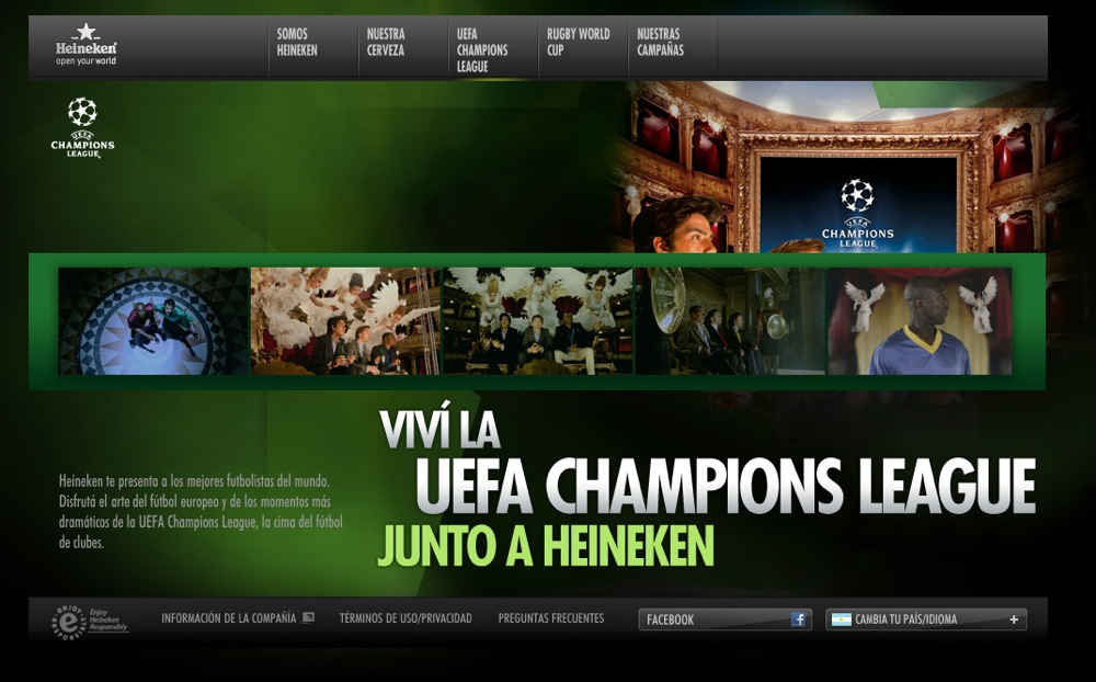 Sección multimedia con fotos y videos de la UEFA.