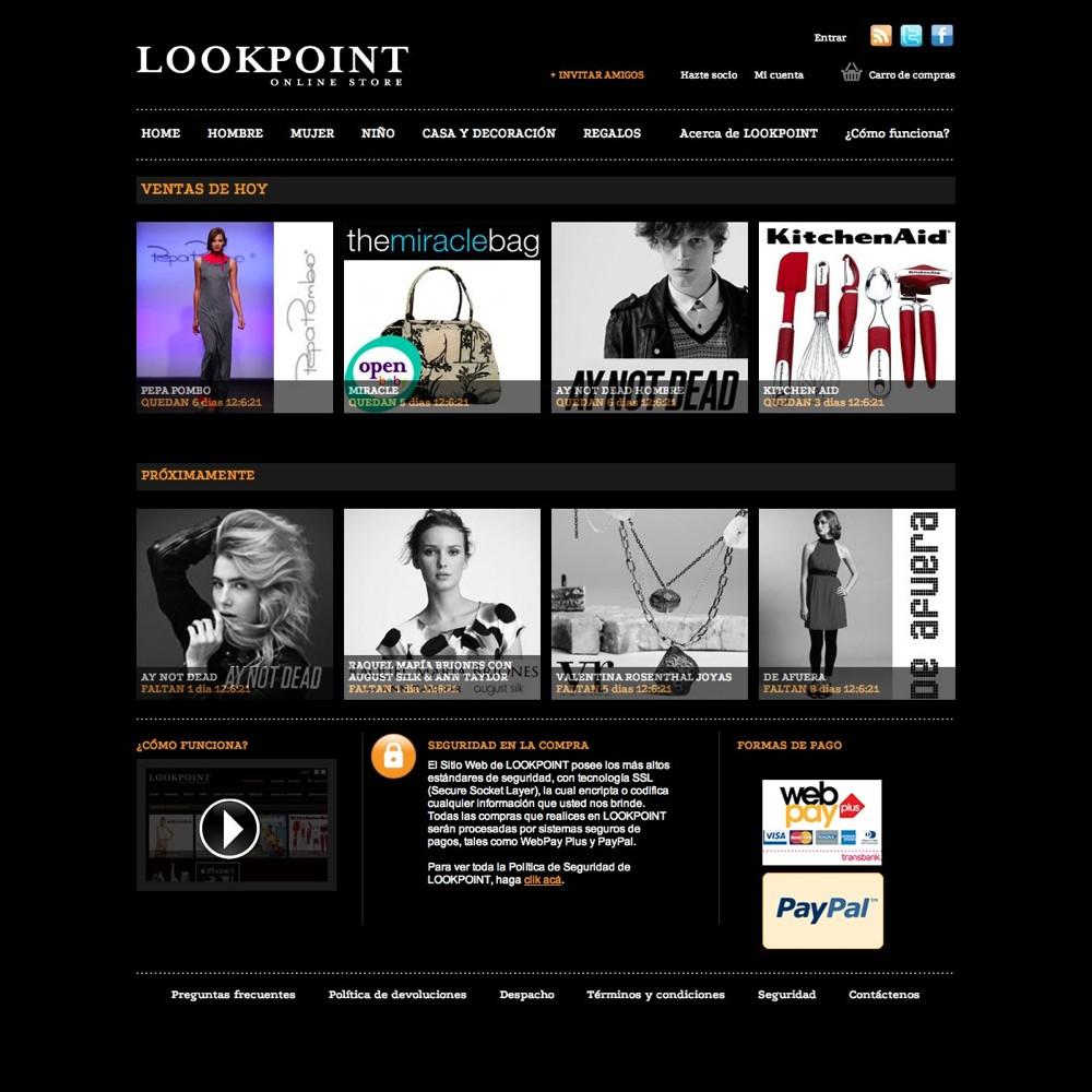 Página principal del sitio.