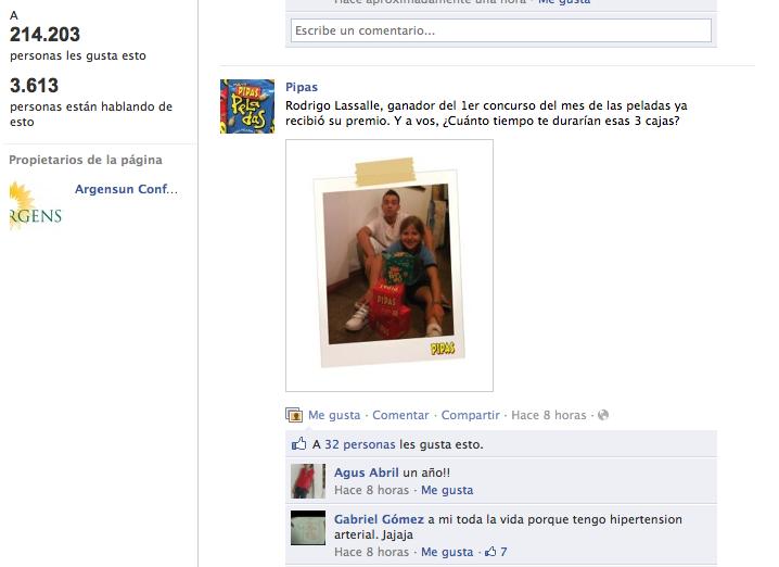 Perfil de Facebook de PIpas.