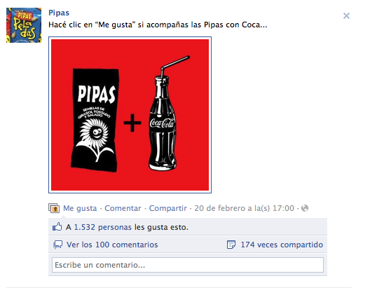 ¿Pipas + Coca?