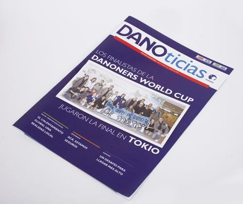 La tapa de la revista para empleados Danoticias. Producción y diseño editorial de Encender Comunicación.