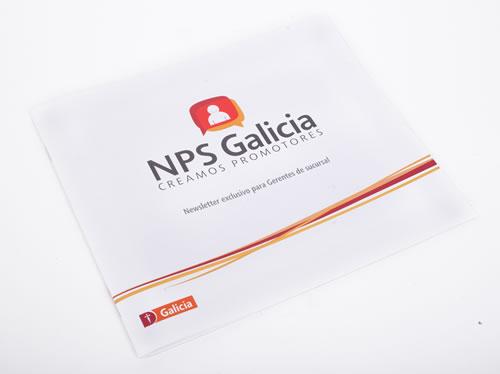 La tapa de la revista especialmente producida para los colaboradores del Galicia.