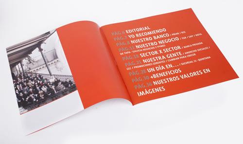 Las páginas interiores del Notigal.