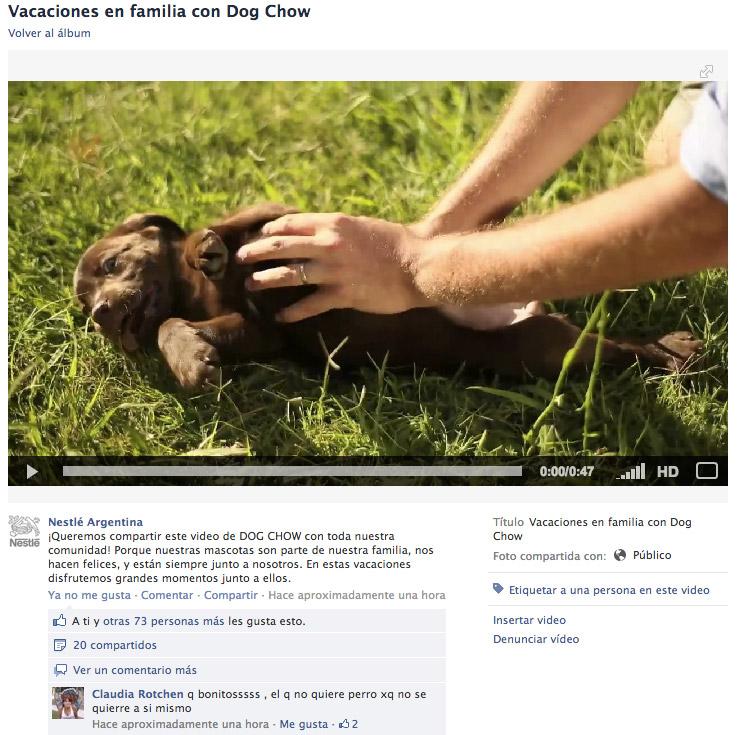 Video publicado en el fanpage de Nestlé.