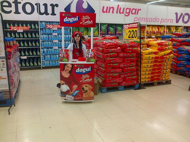 Foto realizada en la acción de Carrefour en La Plata.