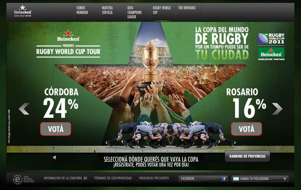 La Copa Mundial de Rugby en la Argentina de la mano de Heineken
