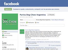 Nuevo fanpage de DogChow en Facebook