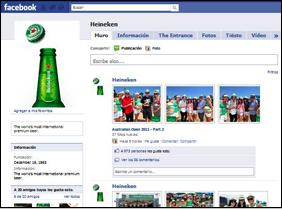 Heineken busca ser Nro. 1 también en Facebook y Encender gestiona su Fan Page