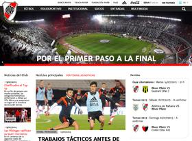 Nuevo sitio oficial de River Plate